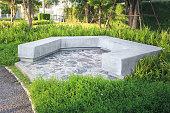 istock Garden furniture or seating. 1277262849