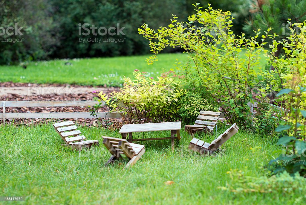 Photo libre de droit de Un Mobilier De Jardin Monde ...