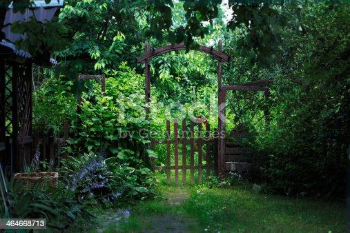 istock Garden gate 464668713