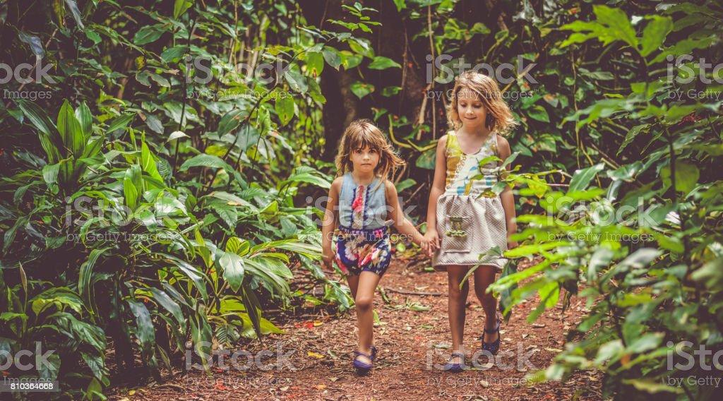 Garden Girls stock photo