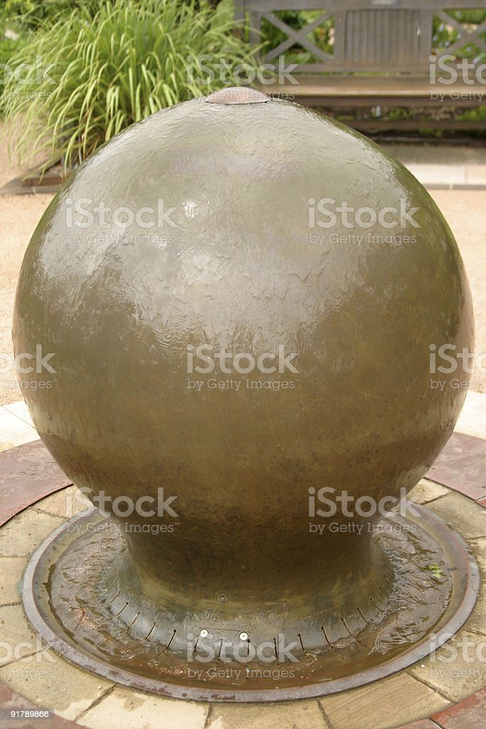 Garden Globe Fountain royalty-free stock photo