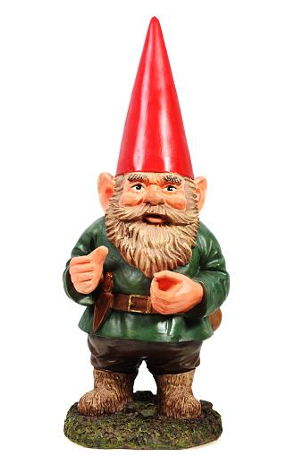 Garden Gnome on a white background.