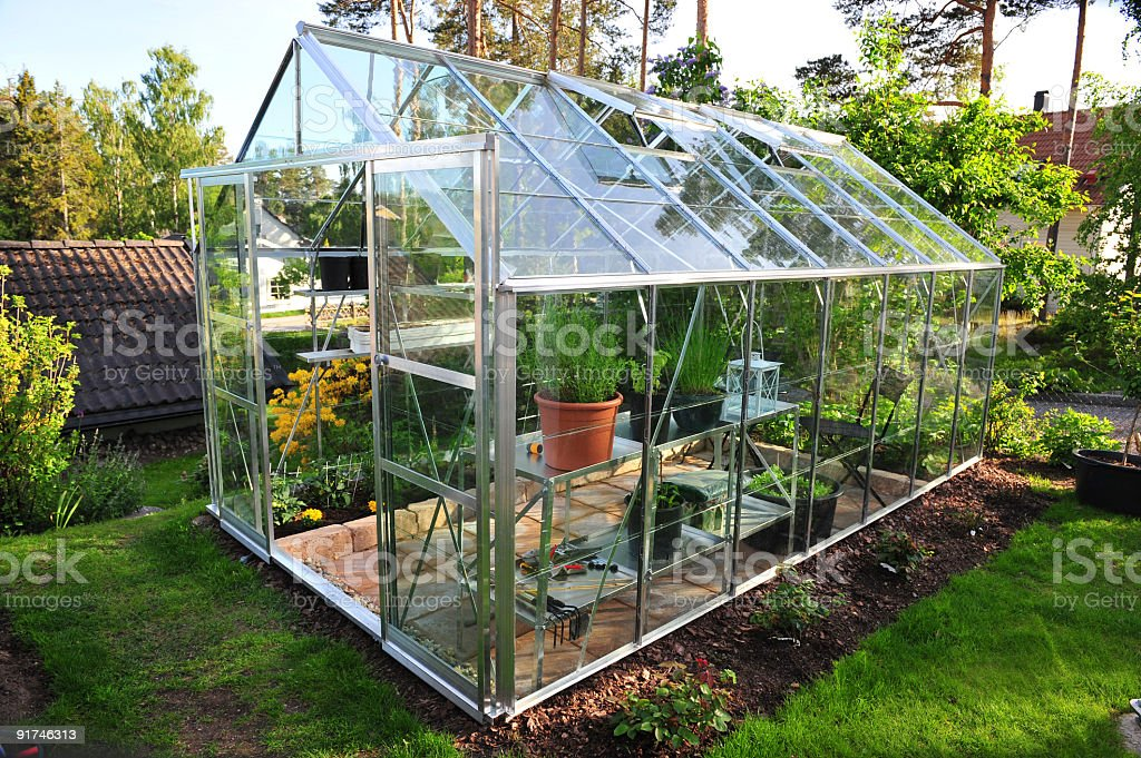 Garden greenhouse royalty-free stock photo