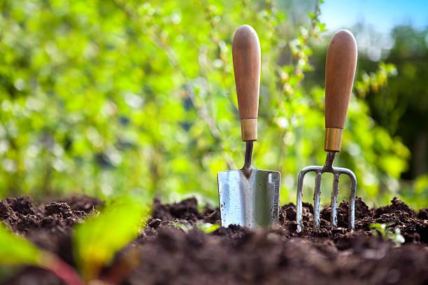 ogród narzędzia ręczne - sprzęt ogrodniczy zdjęcia i obrazy z banku zdjęć