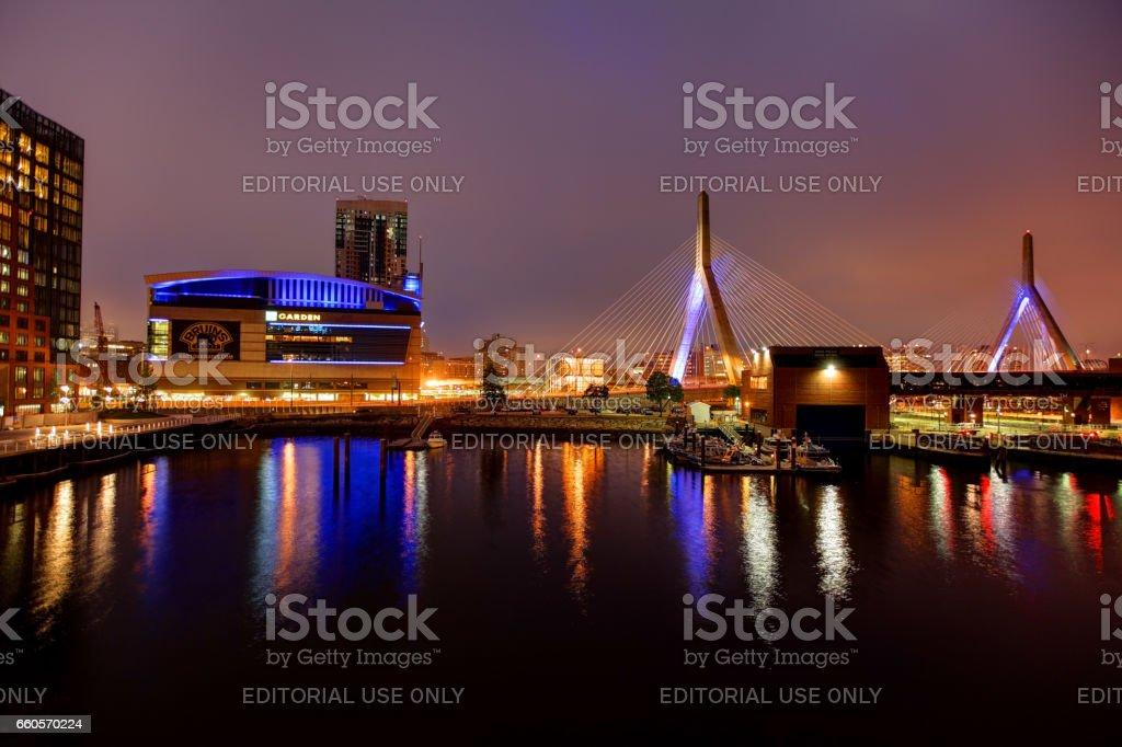 TD Garden home arena for the Boston Bruins and Boston Celtics