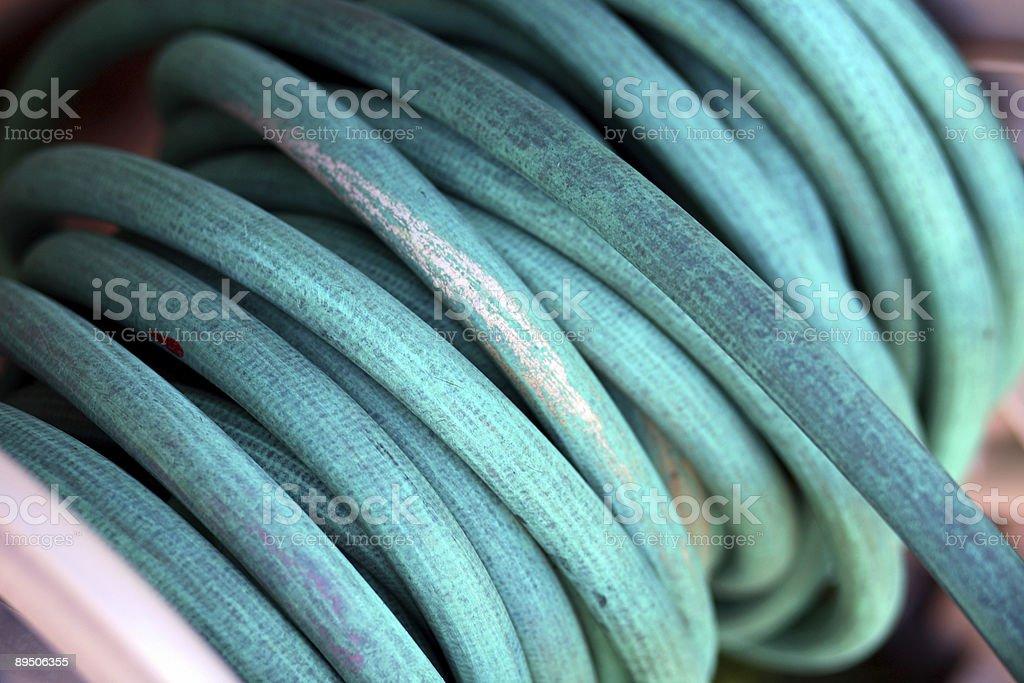 garden hose coil royalty-free stock photo