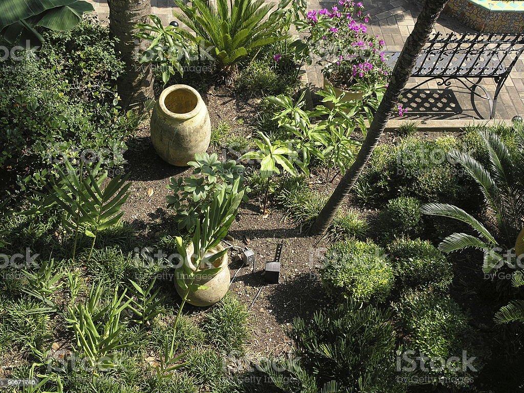 Garden in a villa royalty-free stock photo