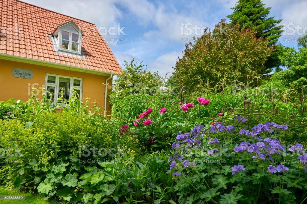 Garden in the countryside stock photo