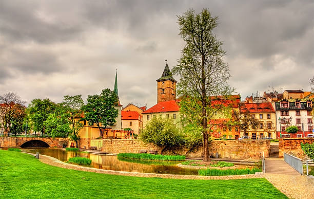Garden in the historic centre of Pilsen Garden in the historic centre of Pilsen - Czech Republic pilsner stock pictures, royalty-free photos & images