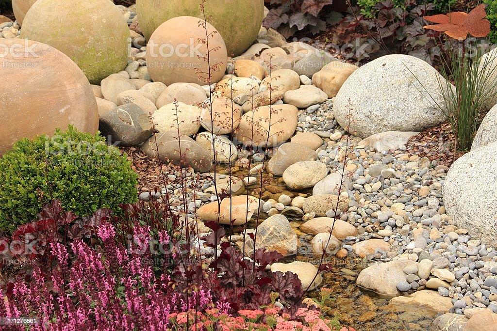 Garden landscape stock photo
