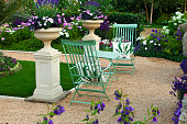 Showcase of a garden with patio area