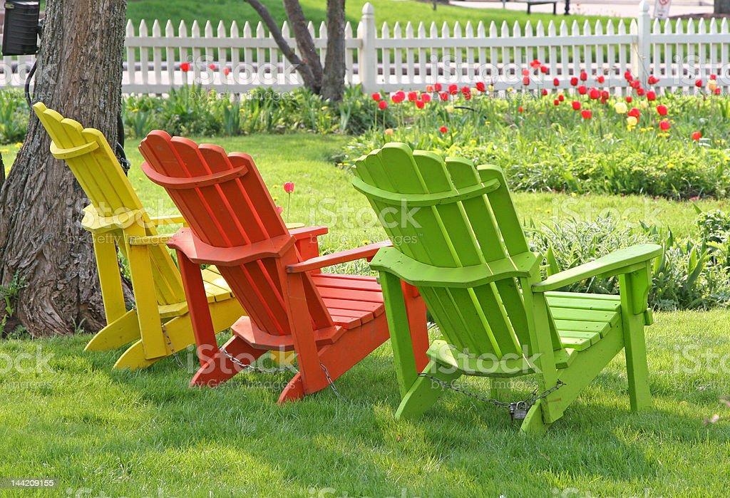 Garden Lawn Chairs stock photo