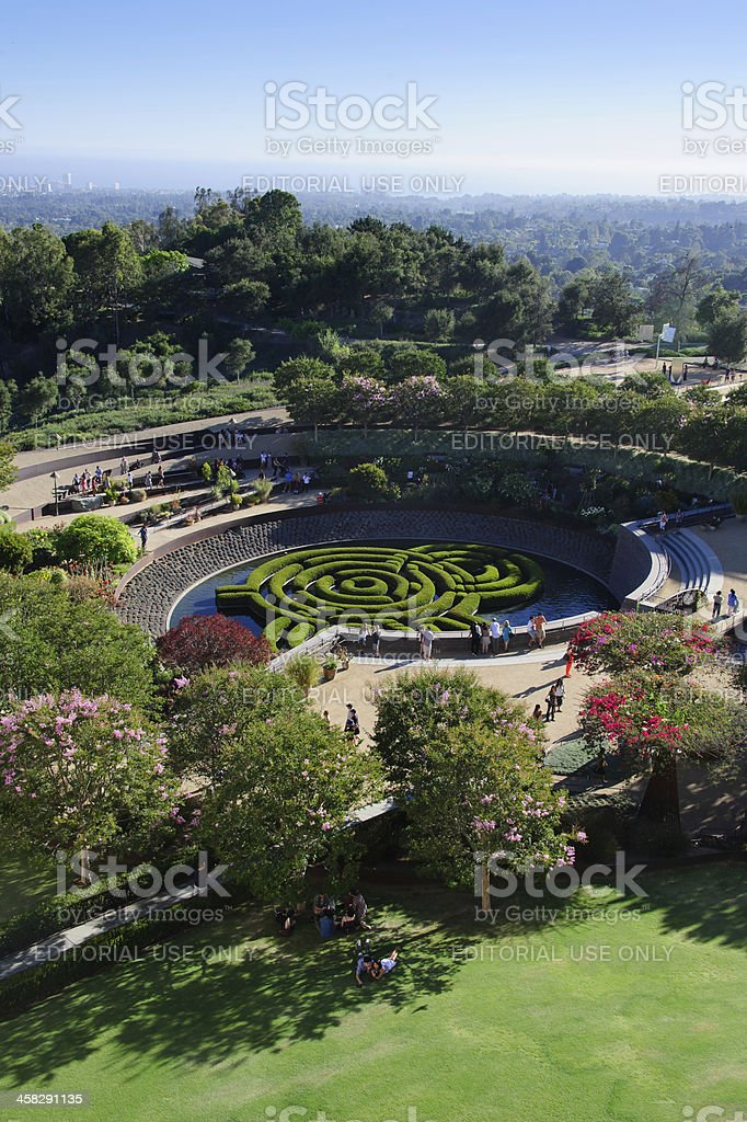 Garden Maze at The Getty royalty-free stock photo