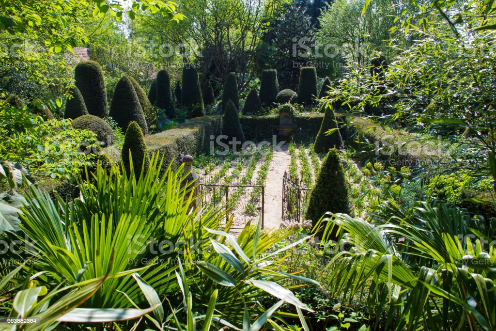 garden of Alexander Thomas - Royalty-free Antique Stock Photo