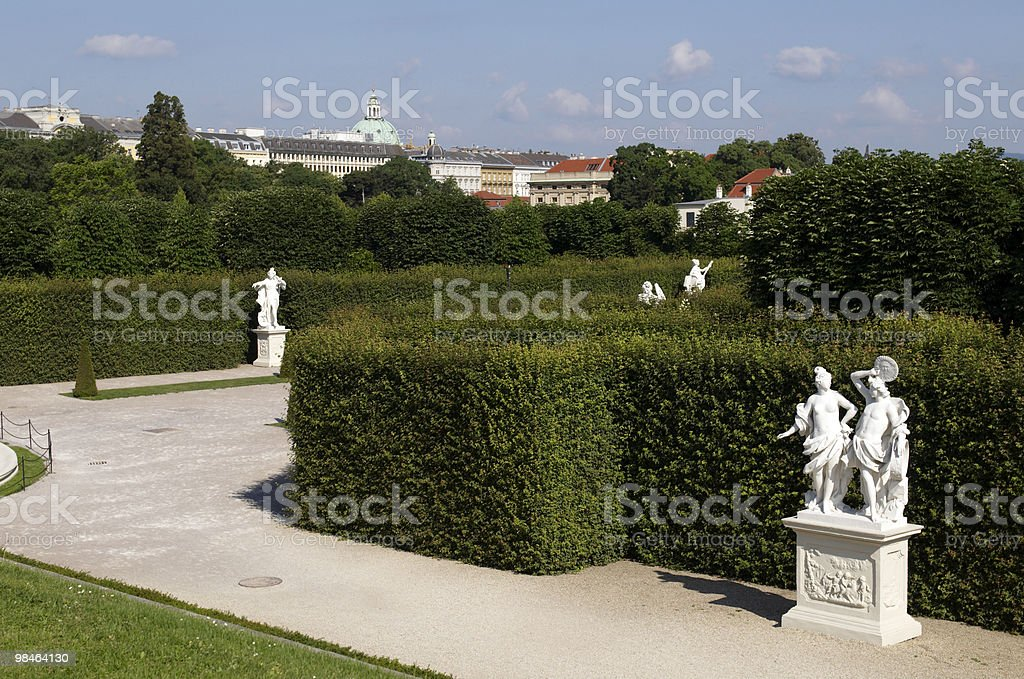 garden of Belvedere royalty-free stock photo