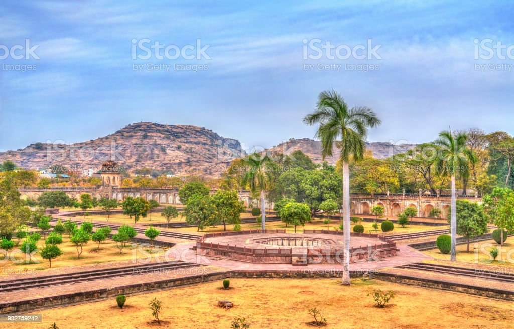 Garden Of Bibi Ka Maqbara, Also Known As Mini Taj Mahal. Aurangabad, India