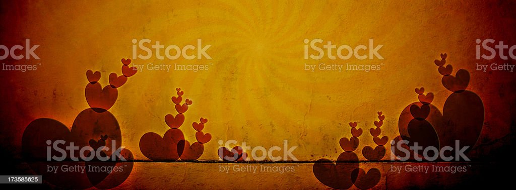 Garden of Love - Cave Drawings Series royalty-free stock photo
