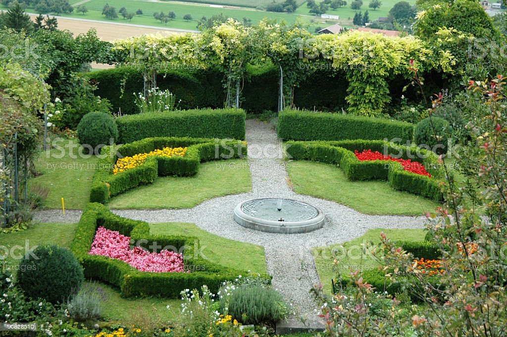 garden of paradise stock photo