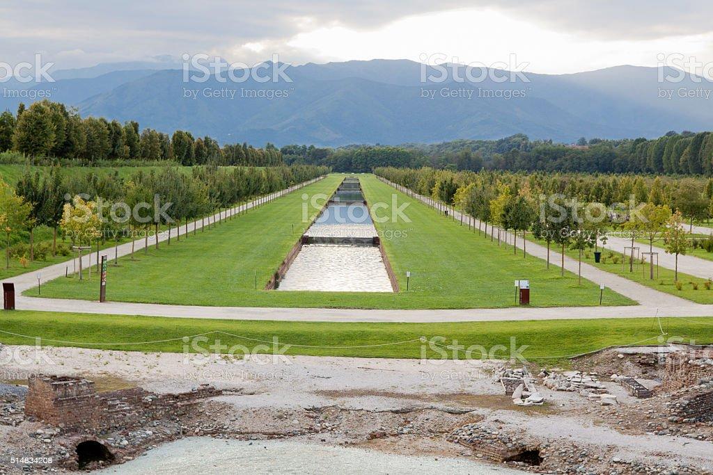 Garden of Reggia di Venaria Reale stock photo