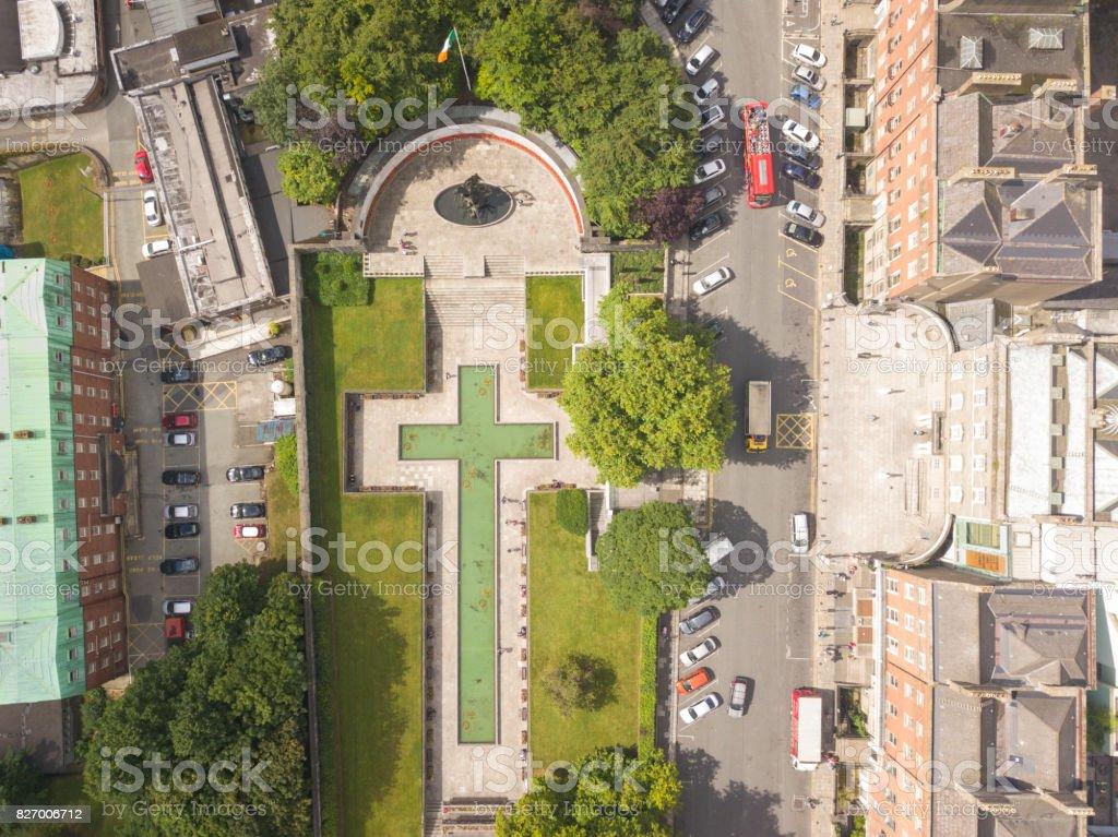Garden of Remembrance Dublin city centre stock photo