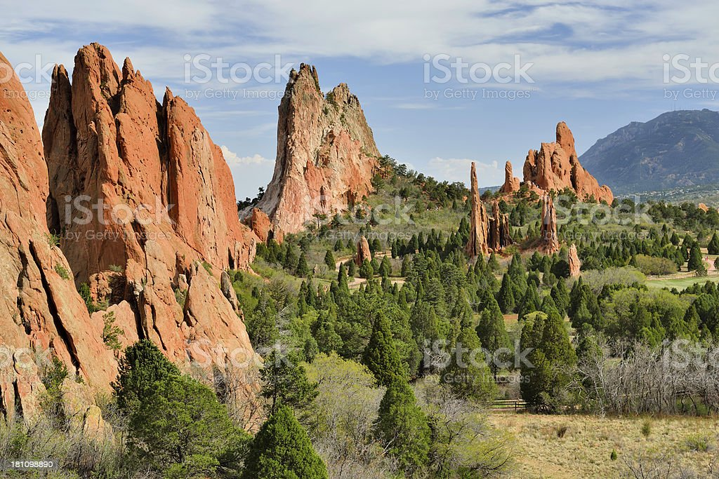 Garden of the Gods, Colorado Springs royalty-free stock photo