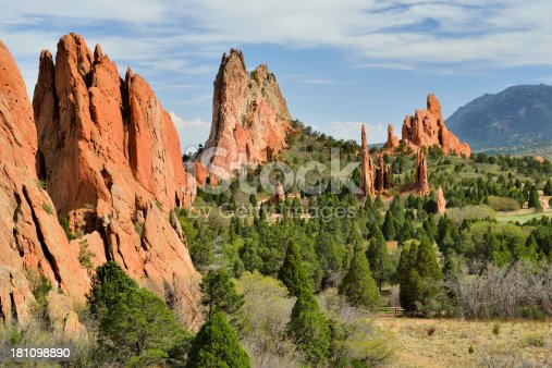 The beautiful Garden of the Gods Park in Colorado Springs.