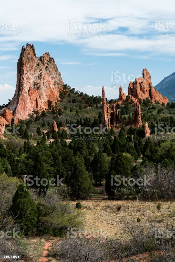 Garden of The Gods, Colorado Springs royalty-free stock photo