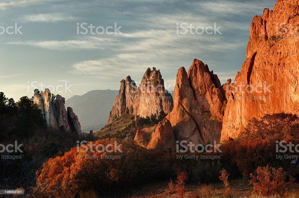Garden of the Gods in Colorado Springs, Colorado stock photo