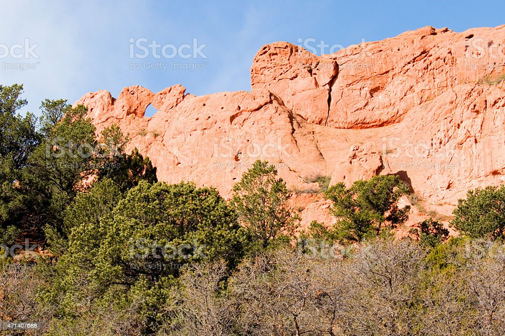 Garden Of The Gods Park And The Kissing Camels Stock Photo