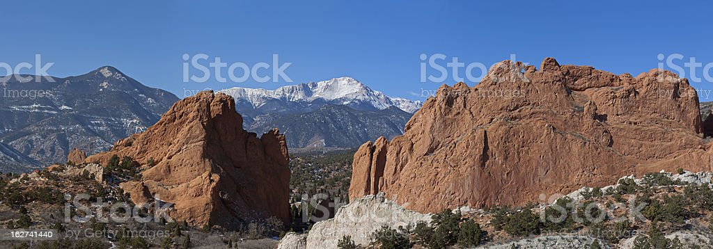 Garden Of The Gods Park In Colorado Springs Co Stock Photo