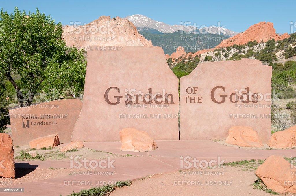 Garden of the Gods royalty-free stock photo