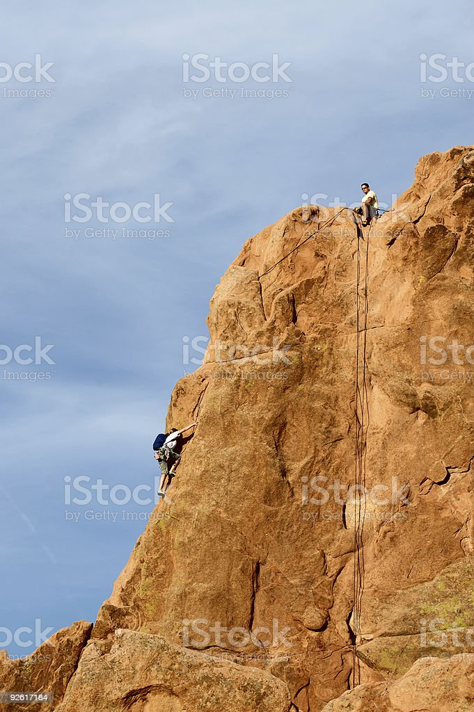 Garden of The Gods, Rock Climber royalty-free stock photo