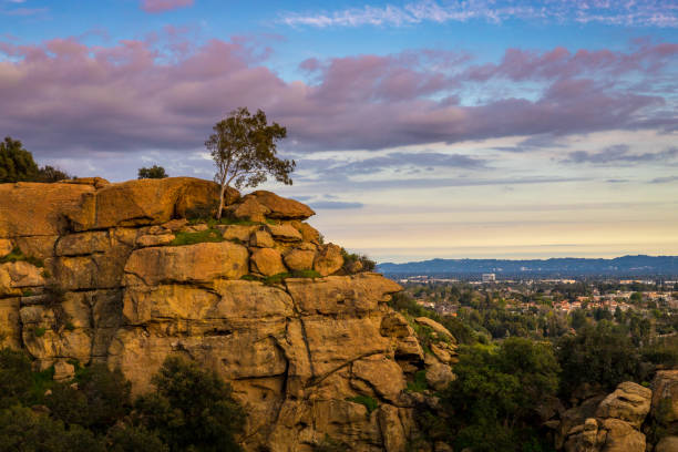 garden of the gods sunset - san fernando valley stock photos and pictures