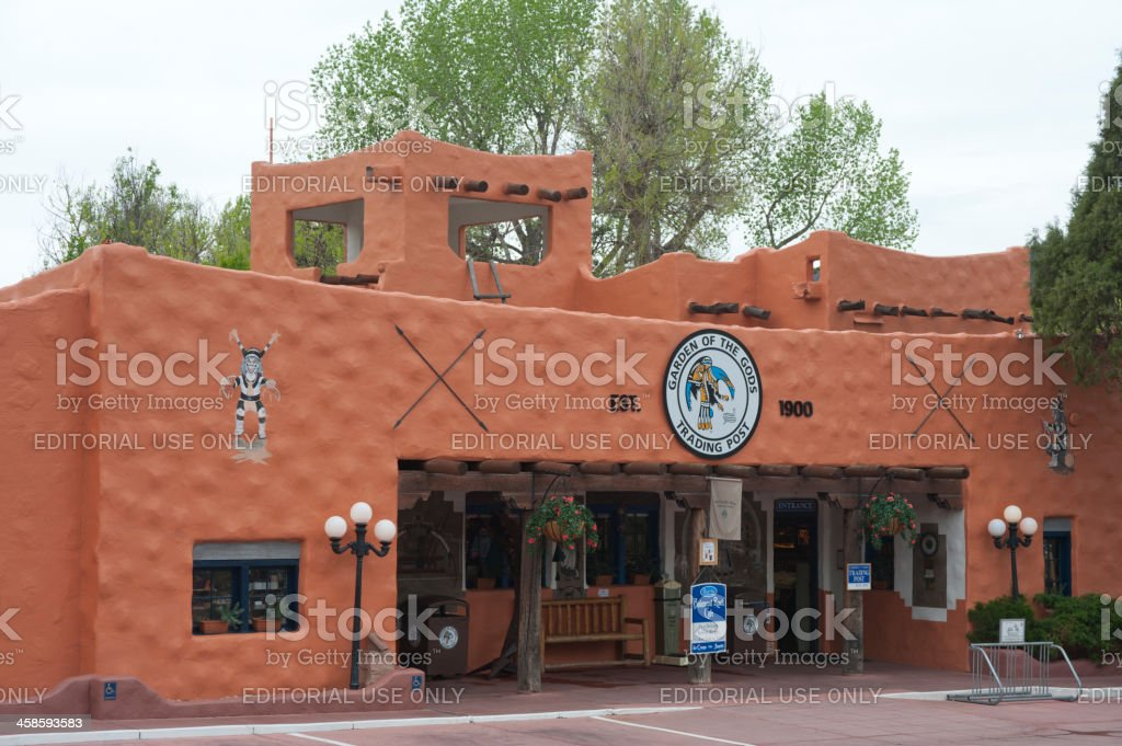 Garden of the Gods Trading Post stock photo