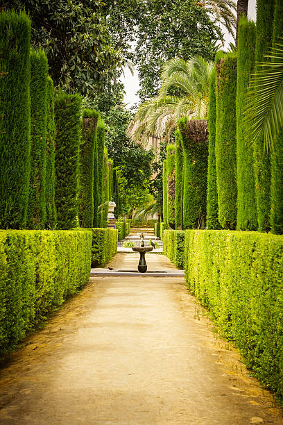 Garden of the Poets in Alcazar, Sevilla Garden of the Poets, Alcazar Palace, Sevilla, Spain alcazar palace stock pictures, royalty-free photos & images