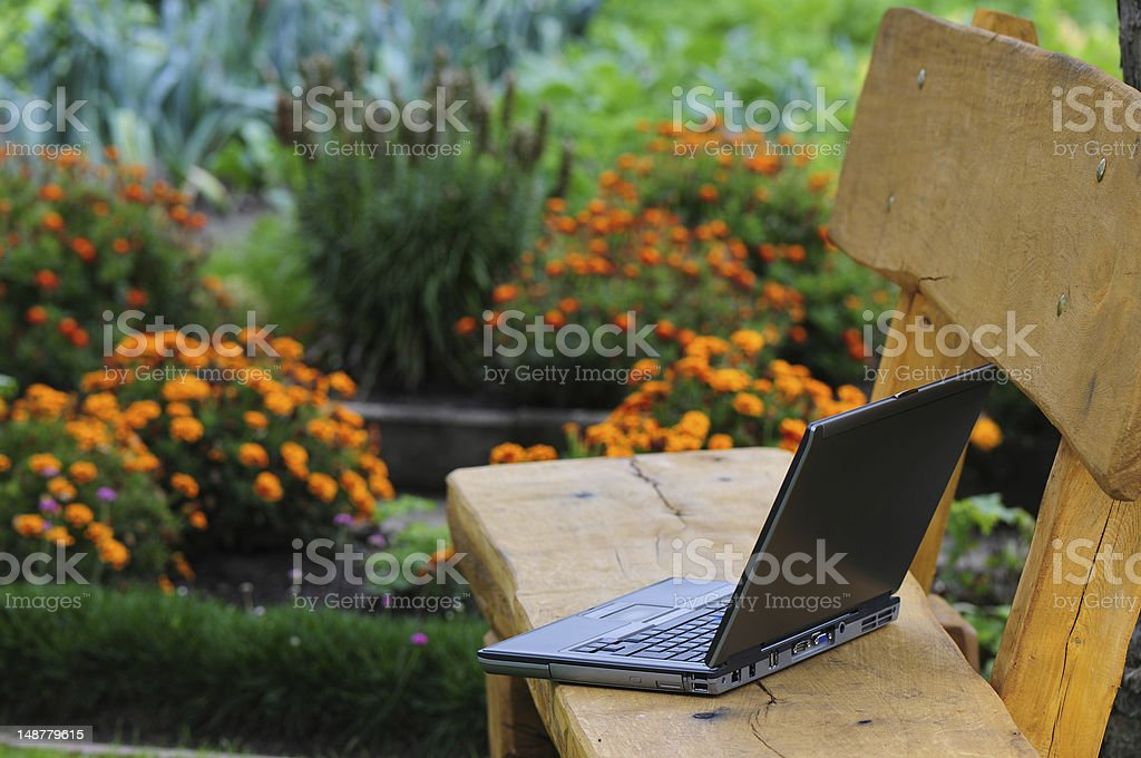 Garden Office royalty-free stock photo