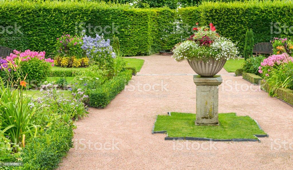 Garden panorama. royalty-free stock photo