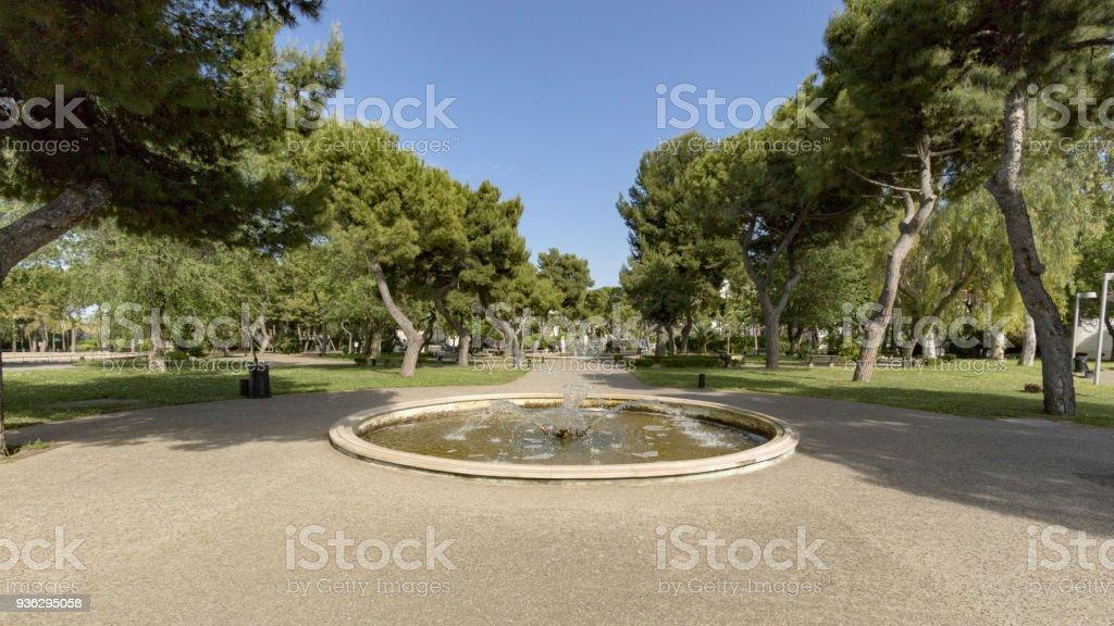 garden park in barletta stock photo