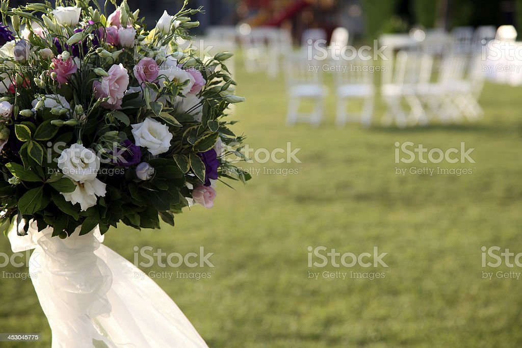 garden party and flower decoration royalty-free stock photo