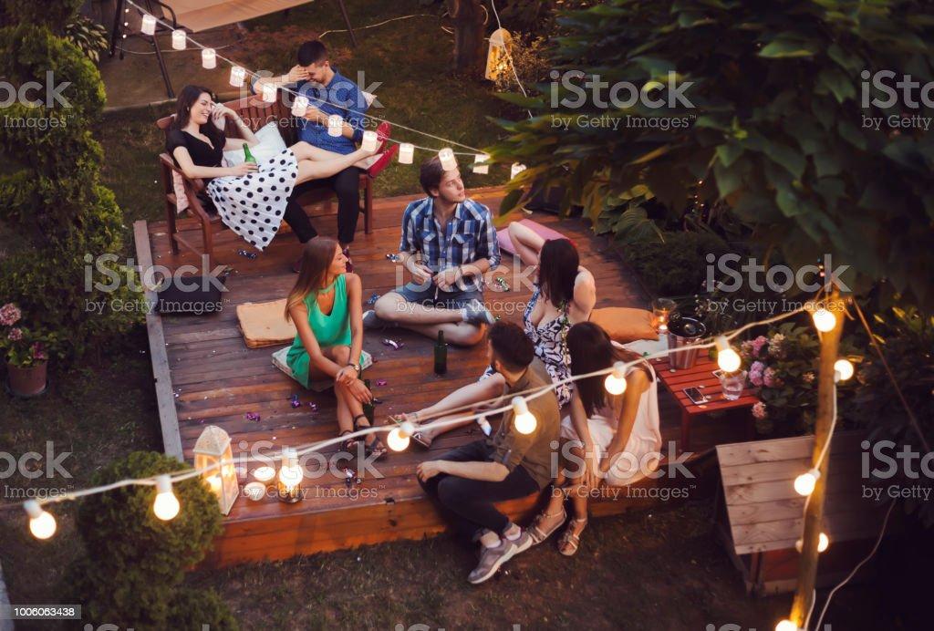 Garden party stock photo