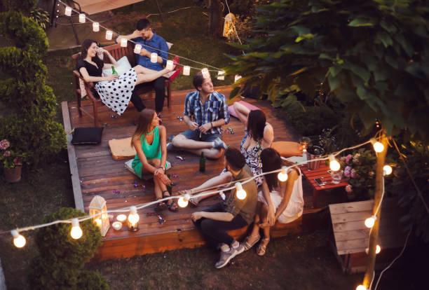 ガーデンパーティ ストックフォト