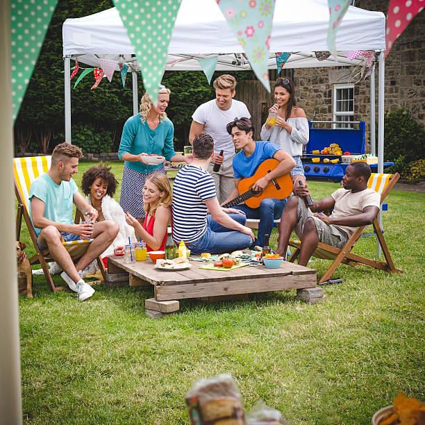 BBQ Garden Party stock photo