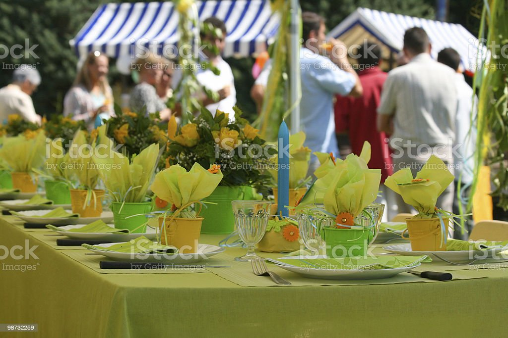 Garden party photo libre de droits