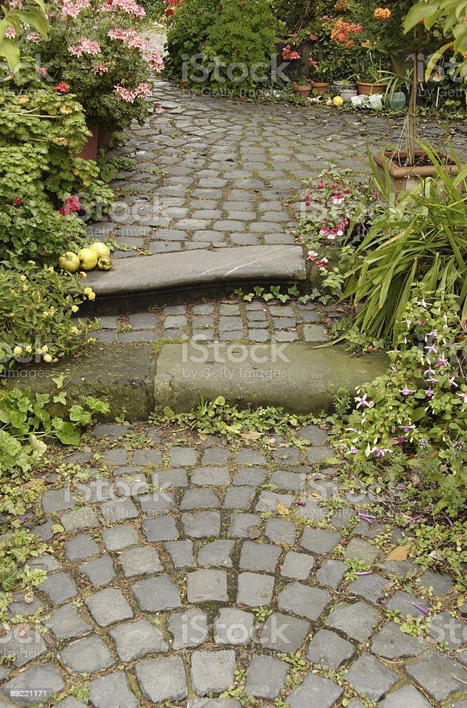 Garden path royalty-free stock photo