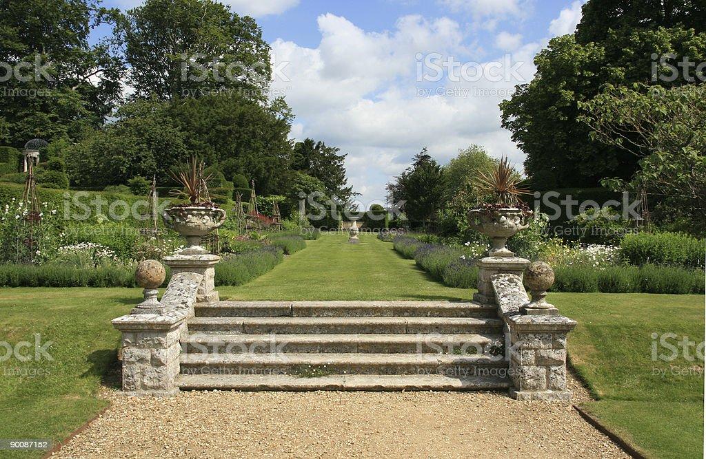 Garden pathway royalty-free stock photo
