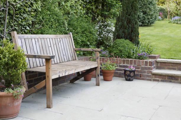 Garden patio furniture stock photo
