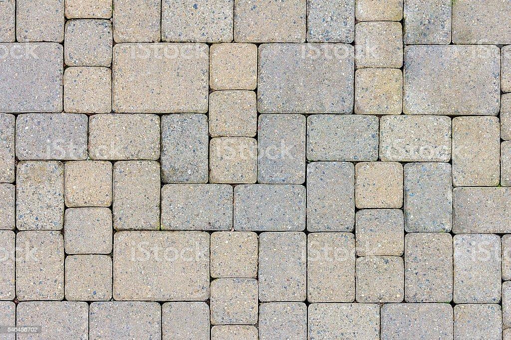 Garden Patio Stone Pavers Top View stock photo
