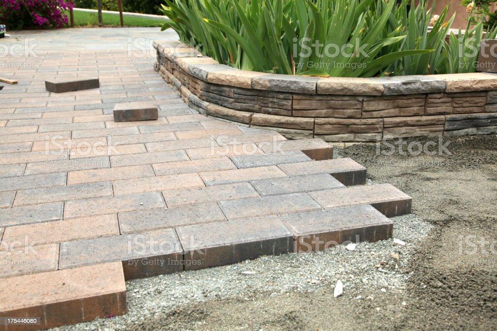 Garden Paver Construction stock photo