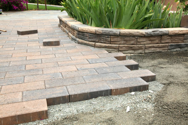 Garden Paver Construction stock photo