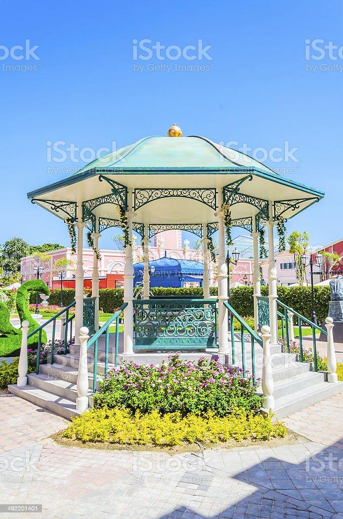 Garden pavillion stock photo